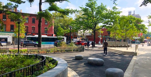 """NYC DOT commences installation of Brooklyn's first """"Shared"""